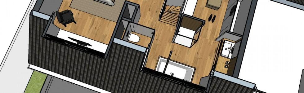 004 2 Verbouwing Zolder 04 Plattegrond 3d