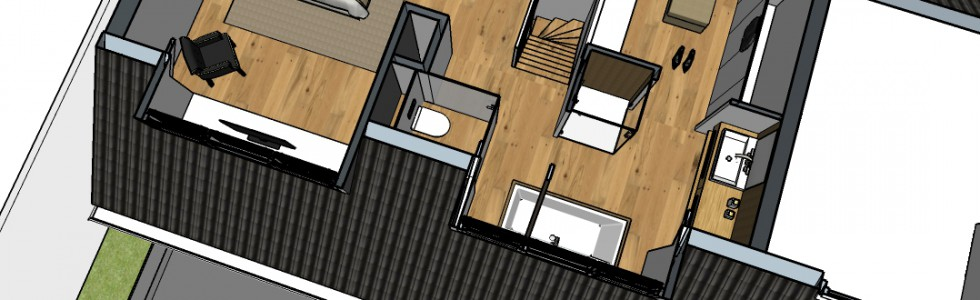004b Verbouwing Zolder 01 Plattegrond 3d