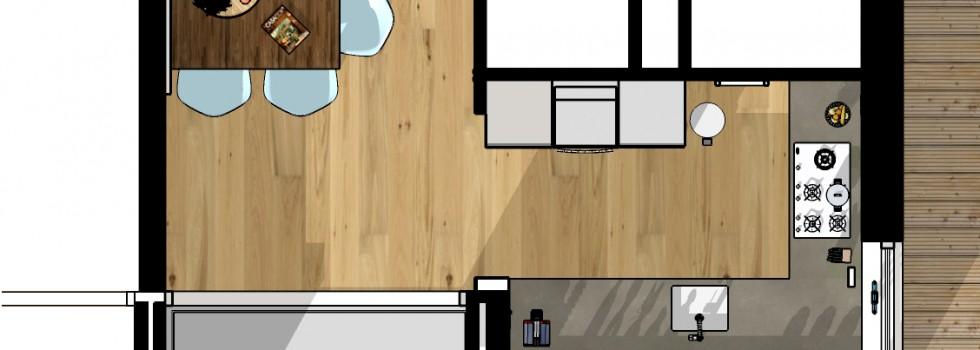 010 Wateringen Woning 2 Onder 1 Kap Keuken 01 Plattegrond