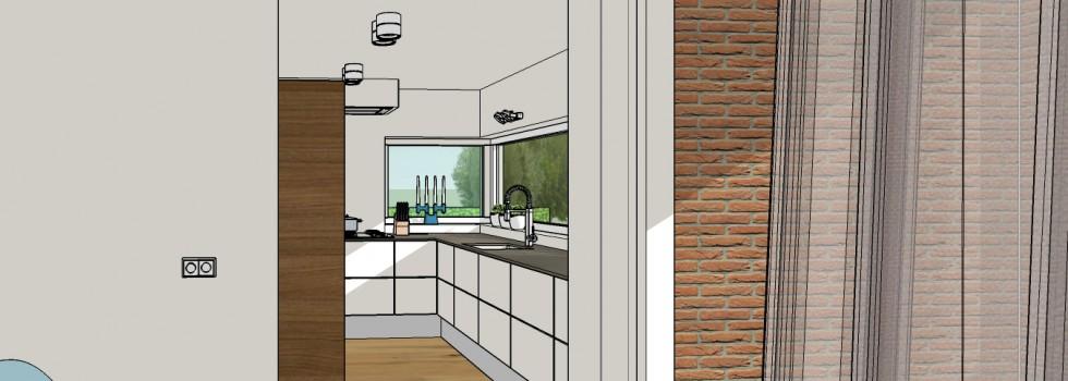 010 Wateringen Woning 2 Onder 1 Kap Keuken 02 3D