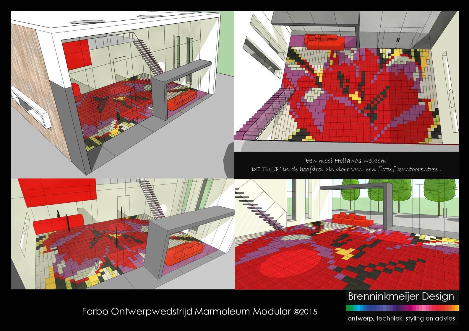 Brenninkmeijer Design Forbo ontwerpwedstrijd Marmoleum Modular 2015 dia 3