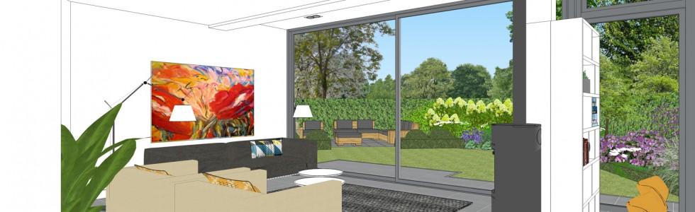 08 Purmerend Woonhuis Uitbreiding Achtergevel Interieur 3D Zithoek Nieuw 2018
