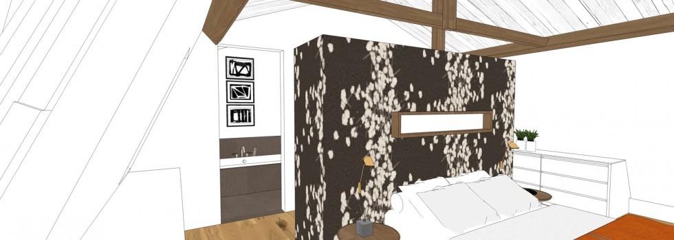 Aalsmeer Geschakelde Woning Zolderverdieping Interieur 04 2018 Slaapkamer 3d