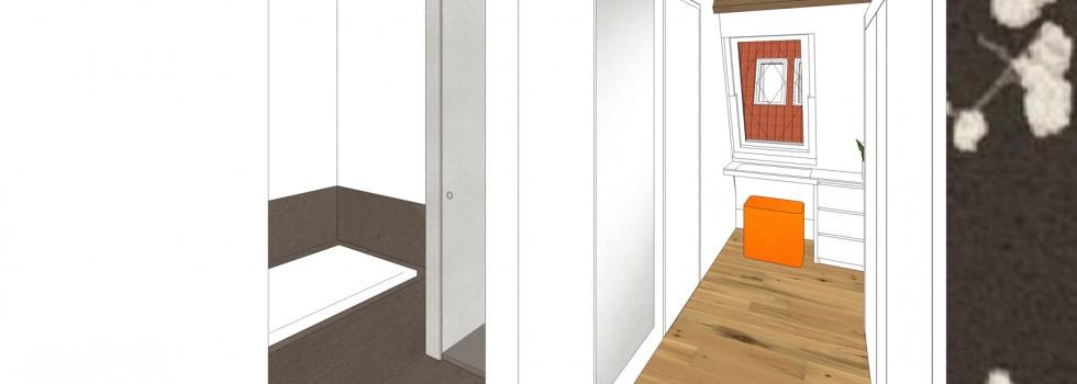 Aalsmeer Geschakelde Woning Zolderverdieping Interieur 06 2018 Kleedkamer 3d