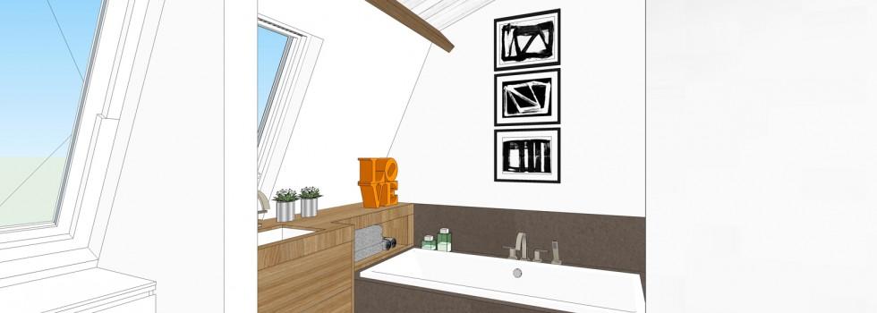 Aalsmeer Geschakelde Woning Zolderverdieping Interieur 08 2018 Badkamer 3d