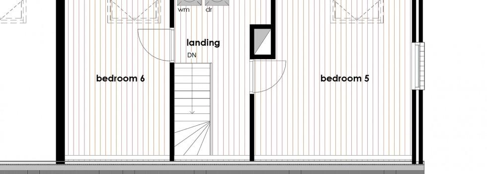 Amstelveen Hoekwoning Interieur Verbouwing Zolderverdieping 01 Plattegrond Bestaand 2018