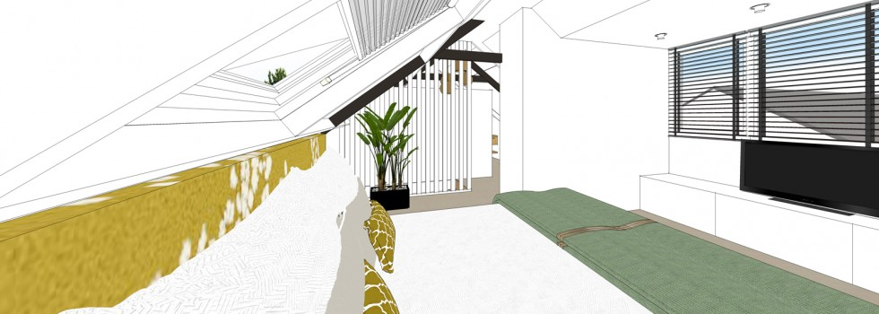 Amstelveen Hoekwoning Interieur Verbouwing Zolderverdieping 05 Slaapkamer 3d Nieuw 2018
