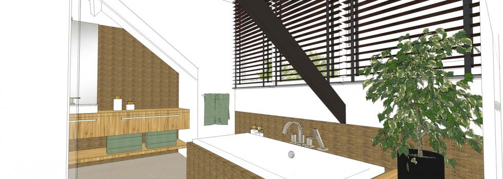 Amstelveen Hoekwoning Interieur Verbouwing Zolderverdieping 08 Badkamer 3d Nieuw 2018