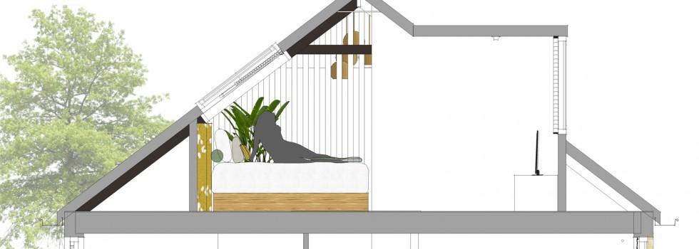 Amstelveen Hoekwoning Interieur Verbouwing Zolderverdieping 11 Doorsnede Slaapkamer Nieuw 2018