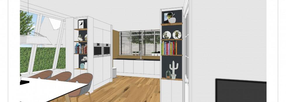 Aalsmeer Geschakelde Woning Keuken Interieur 02 3d View Brenninkmeijer Design  2018