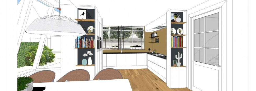 Aalsmeer Geschakelde Woning Keuken Interieur 03 3d View Brenninkmeijer Design  2018