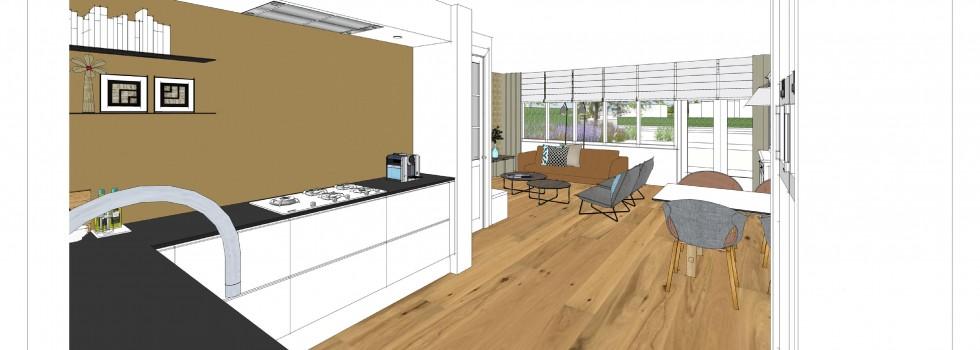 Aalsmeer Geschakelde Woning Keuken Interieur 04 3d View Brenninkmeijer Design 2018