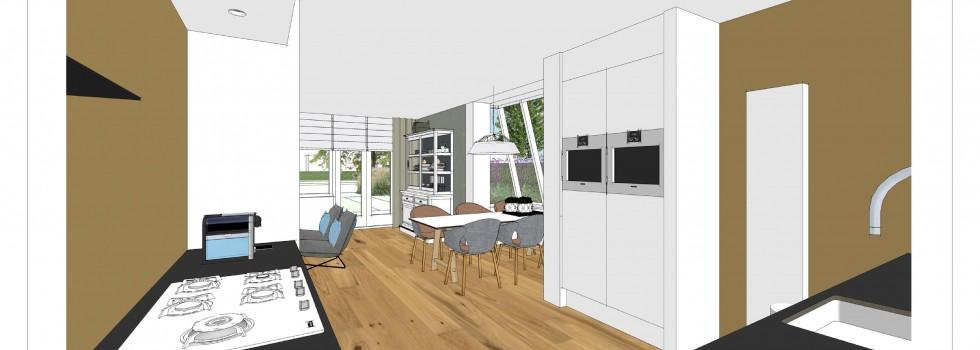 Aalsmeer Geschakelde Woning Keuken Interieur 05 3d View Brenninkmeijer Design 2018