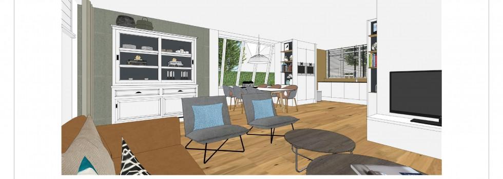 Aalsmeer Geschakelde Woning Keuken Interieur 06 3d View Brenninkmeijer Design 2018